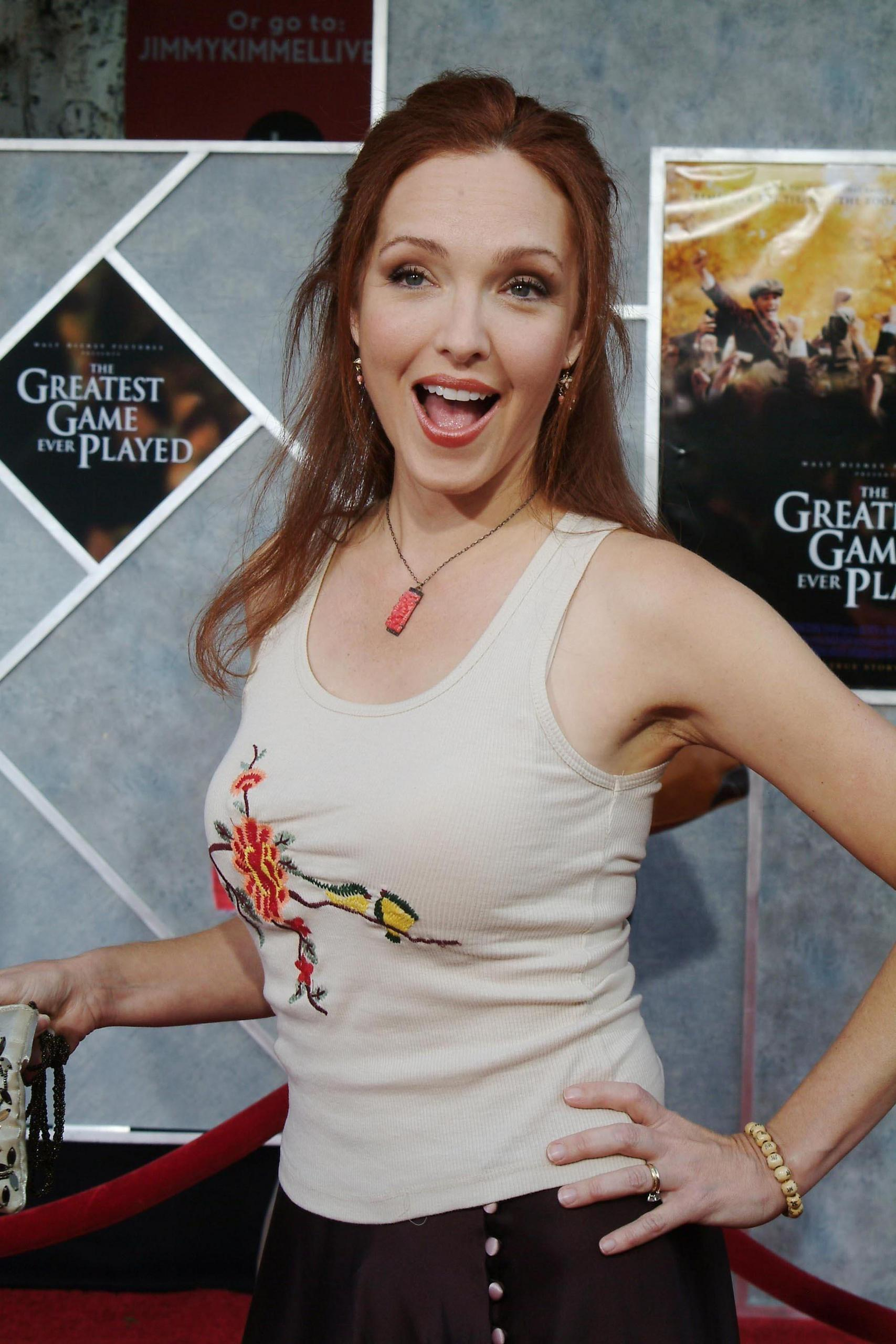Amy Yasbeck premiere of the greatest game ever played - amy yasbeck