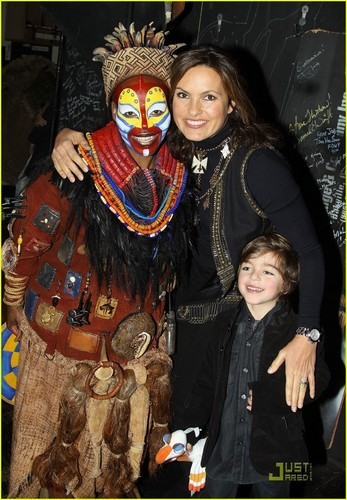 Mariska Hargitay: 'The Lion King' with August!