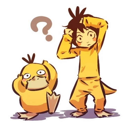 Psyduck and Trainer
