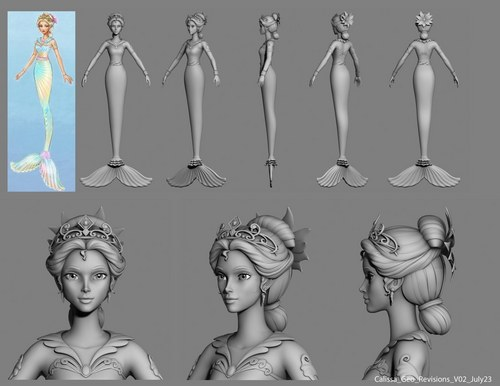 Barbie in A Mermaid Tale: Developing Queen Calissa
