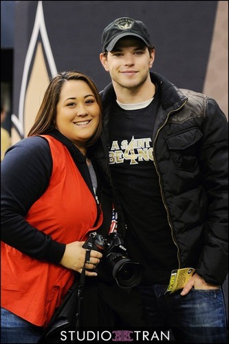 Kellan Lutz At The New Orleans Saints NFL Game!