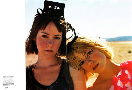 Laura & Jena Malone in Elle Magazine - March 2008