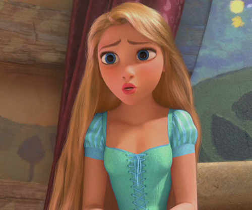 Rapunzel in Greenish Blue dress