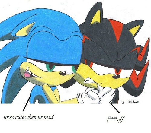 Sonic likes it when shadows mad
