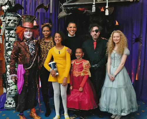 johnny depp- Alice in the White House( halloween) 2010