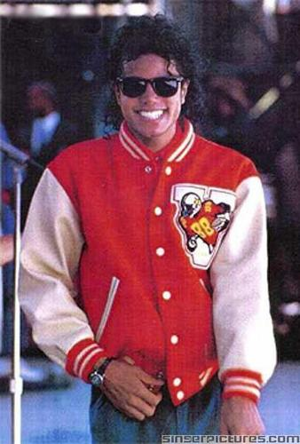 michael jackson in a cool jacke and shades :P