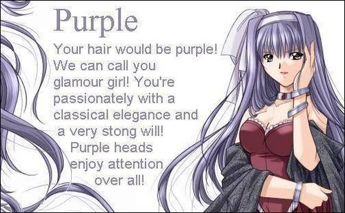 Anime hair purle