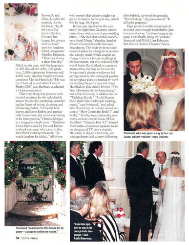 Barbra Streisand's Wedding - People