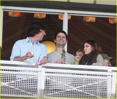 James with new girlfriend Eve Hewson!
