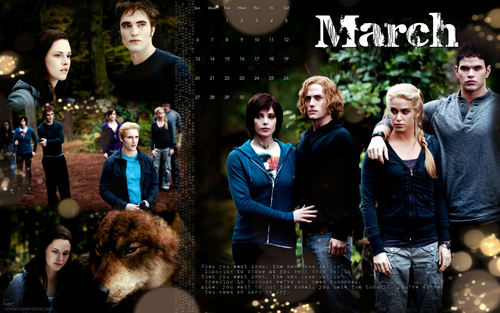 The Twilight Saga 2011 Desktop Обои Calendars