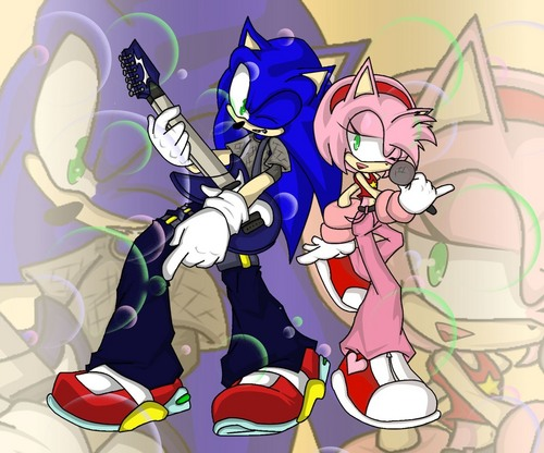 rock out amy and sonic