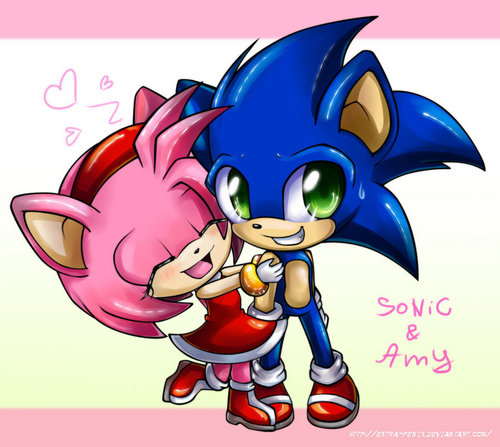 sonic and amy together