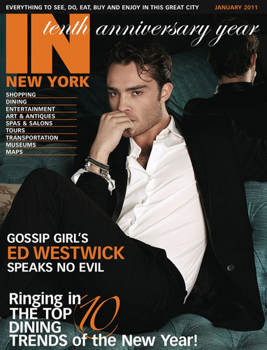 Ed Westwick on the cover of NY Magazine :))