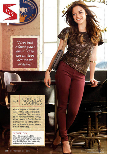 Lucy Hale in US Weekly Magazine