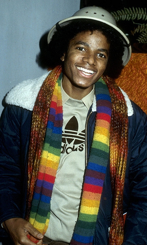 "MJ wearing 'Adidas""...LoL:)"
