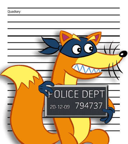 Swiper Caught por the Law