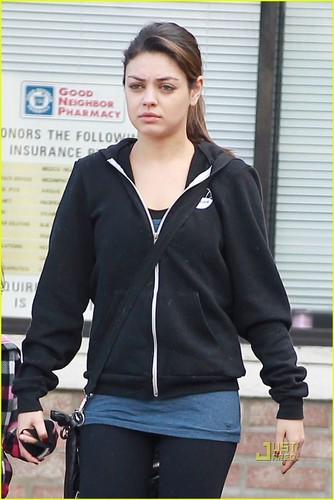 Mila out in LA