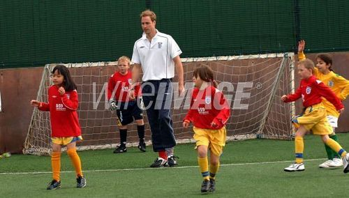 Prince William Visits FA's Hat-Trick Project