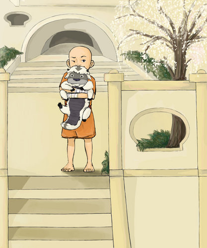 little aang and little appa