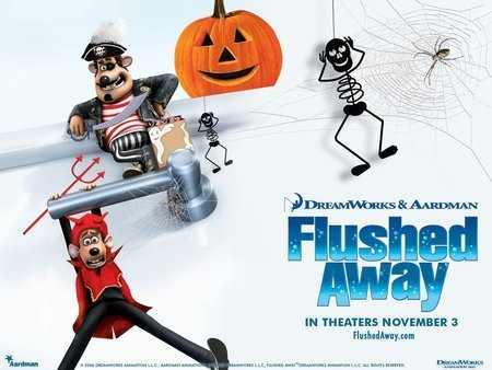 Flushed Away Halloween Poster