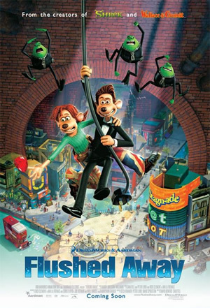 Flushed Away Promotional Movie Poster