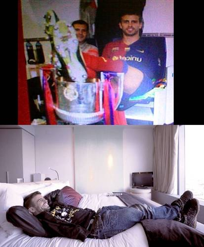 Gerard Piqué with your feet up!