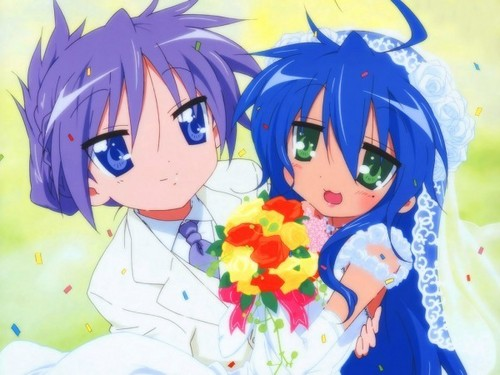 Konata and Kagami's wedding...?