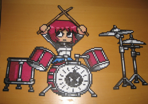 Scott Pilgrim Bead Art by me