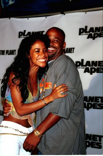 Aaliyah with boyfriend Damon Dash