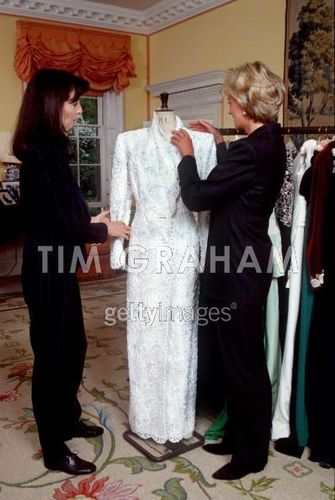 Diana And Catherine Walker In Kensington Palace