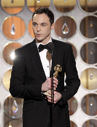 Jim Parsons Accepting the 2011 Golden Globe for Best Actor in a Comedy TV Series