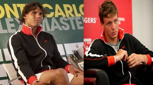 RAFA AND TOMAS IN THE SAME SWEATER