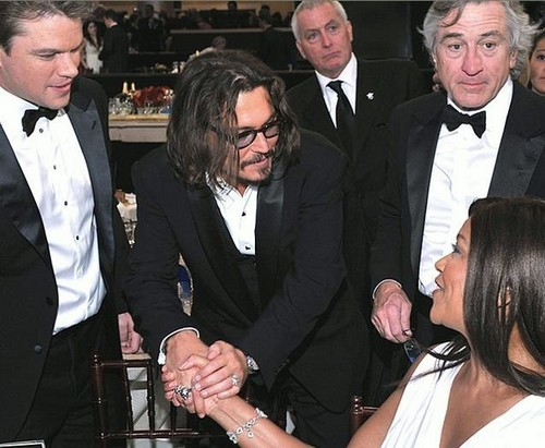 johnny depp- Golden Globes 16th Jan 2011