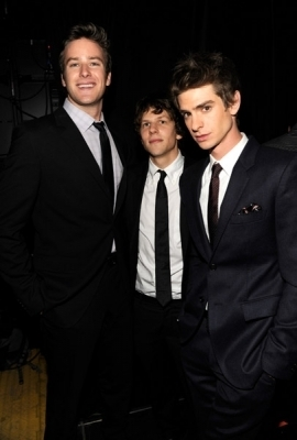 Andrew with Armie Hammer and Jesse Eisenberg