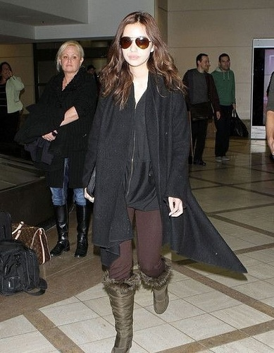 Anna and Christian in the airport of the LA (26.01)