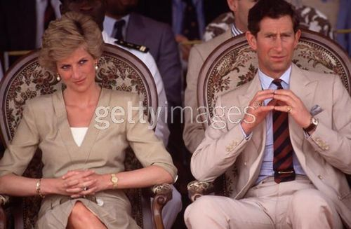 Diana Princess of Wales watch a dancing display