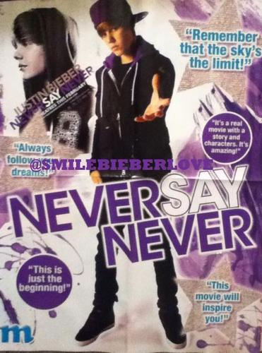 New Never Say Never poster?