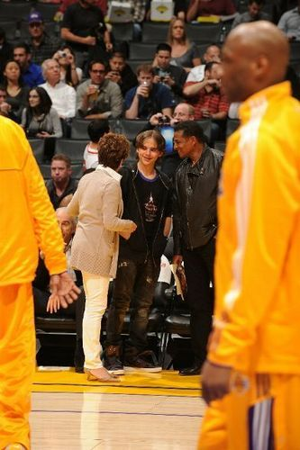 Prince and Uncle Jackie @ Lakers Game
