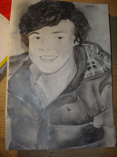 my drawing of harry styles