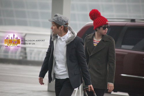 SuJu at Incheon Airport