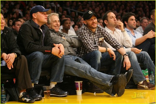 Tom at LA Lakers game with Leonardo Dicaprio 3rd Feb 2011