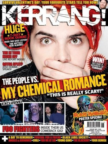 My Chemical romance Kerrang! Cover February 12 2011.