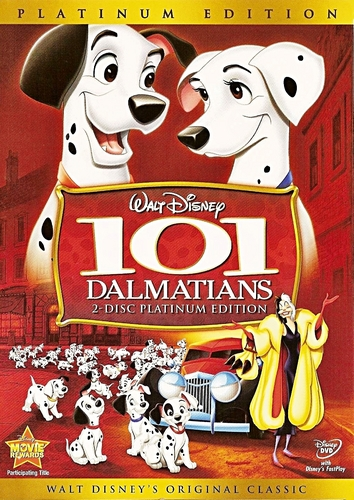 101 Dalmatians - Two-Disc Platinum Edition Disney DVD Cover