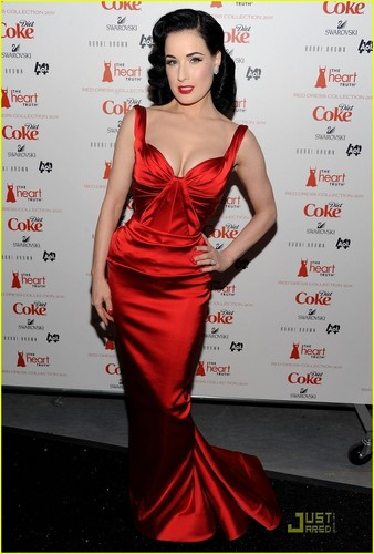 Dita Von Teese: Red Dress for the Heart Truth Show!