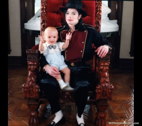 Michael Jackson and son Prince Jackson [= <3