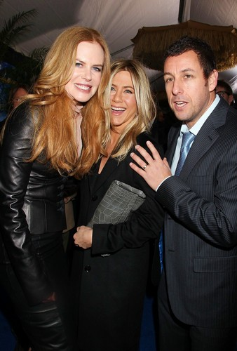 Nicole, Jennifer Aniston and Adam Sandler at Just Go With It premiere in New York