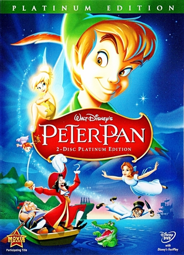 Peter Pan - Two-Disc Platinum Edition Disney DVD Cover