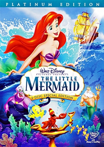 The Little Mermaid - Two-Disc Platinum Edition Disney DVD Cover