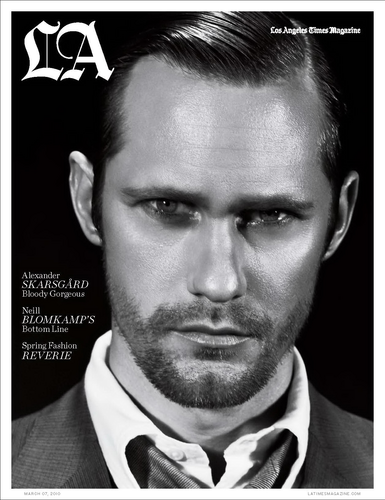 Alexander Skarsgård graces the cover of March's LA Times Magazine