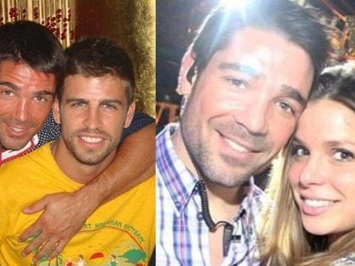 Marc Callico at first  embraced by Gerard Piqué and then he took  his former girlfriend Nuria,.,.,.